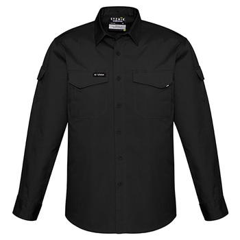 ZW400 - Mens Rugged Cooling L/S Shirt Black Front