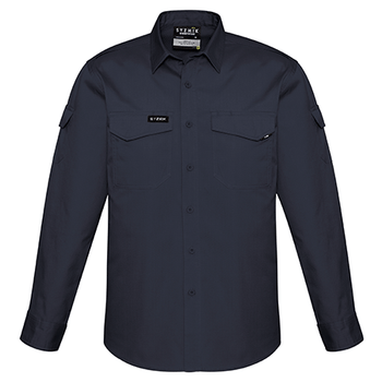 ZW400 - Mens Rugged Cooling L/S Shirt Charcoal Front