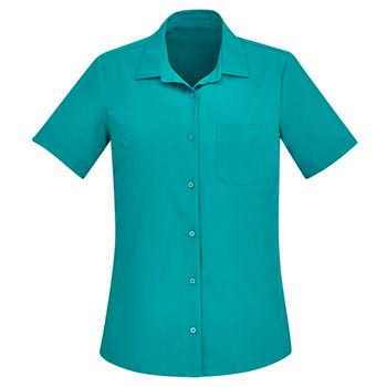 CS947LS - Womens Florence Short Sleeve Shirt Teal