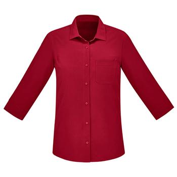 CS951LT - Womens Florence 3/4 Sleeve Shirt Cherry