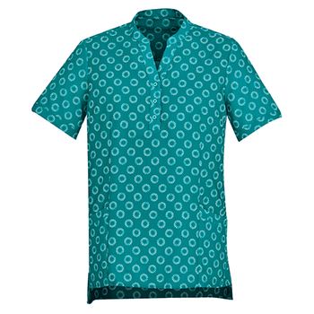 CS950LS - Womens Florence Daisy Print Tunic Teal
