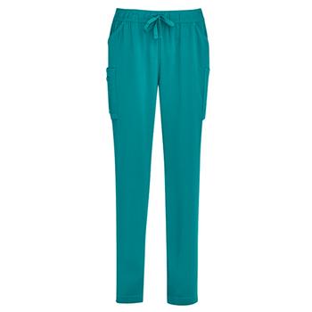CSP943LL - Womens Slim Leg Scrub Pant Teal