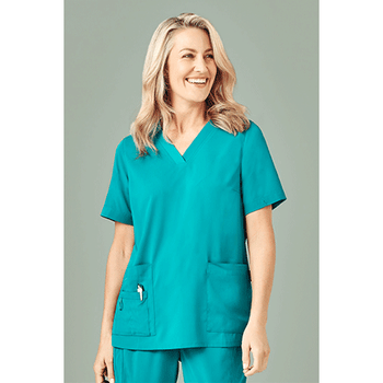 CST941LS - Womens Easy Fit V-Neck Scrub Top Display