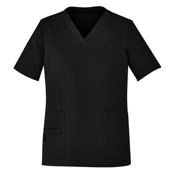 CST941LS - Womens Easy Fit V-Neck Scrub Top Black