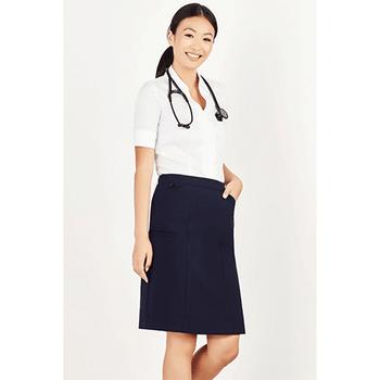 CL956LS Womens Comfort Waist Cargo Skirt - Biz Care