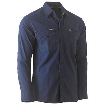 BS6144 - Flex & Move Utility Work Shirt - Long Sleeve - Navy