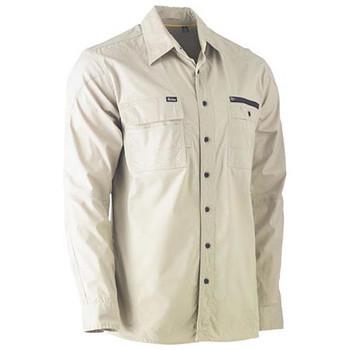 BS6144 - Flex & Move Utility Work Shirt - Long Sleeve - Stone