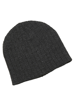 Black Heather - 4455 Heather Cable Knit Beanie