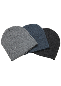 . - 4455 Heather Cable Knit Beanie
