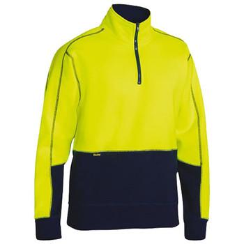 BK6989 - Hi Vis Fleece Pullover - Yellow-Navy