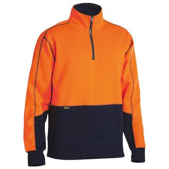 BK6989 - Hi Vis Fleece Pullover - Orange-Navy