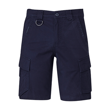 ZS360 - Mens Streetworx Curved Cargo Short Navy Front