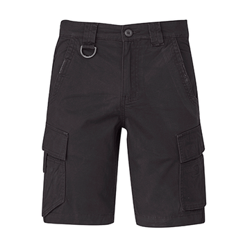 ZS360 - Mens Streetworx Curved Cargo Short Charcoal Front