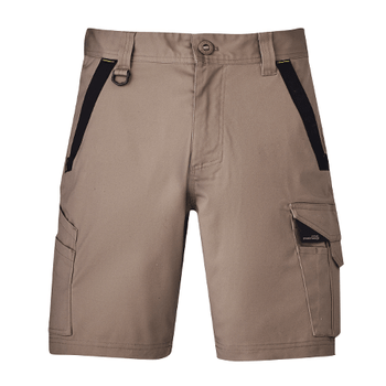 ZS550 - Mens Streetworx Tough Short Khaki Front