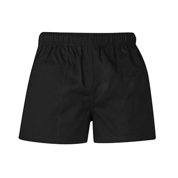 ZS105 - Mens Rugby Short Black Front