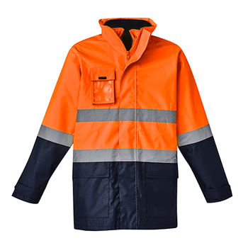 ZJ220 - Mens Hi Vis Basic 4 in 1 Waterproof Jacket O/N Front