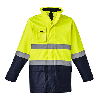 ZJ220 - Mens Hi Vis Basic 4 in 1 Waterproof Jacket Y/N Front