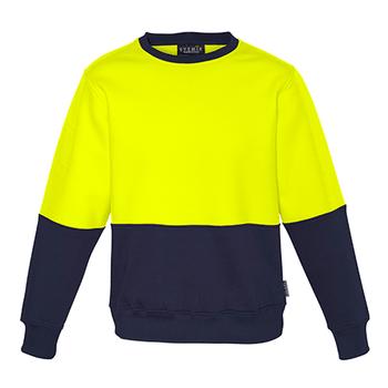 ZT475 - Unisex Hi Vis Crew Sweatshirt y/n front