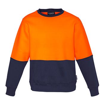 ZT475 - Unisex Hi Vis Crew Sweatshirt o/n front
