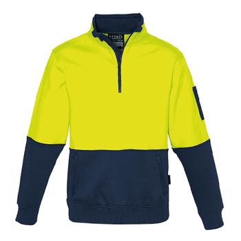 ZT476 - Unisex Hi Vis Half Zip Pullover Y/N FRONT