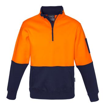 ZT476 - Unisex Hi Vis Half Zip Pullover O/N FRONT