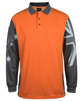 6HSCL - Long Sleeve Southern Cross Polo