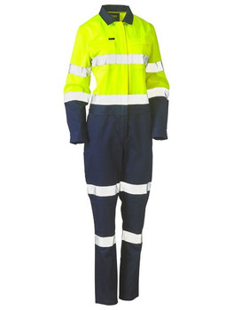 BCL6066T - Womens Taped Hi Vis Cotton Drill Coverall