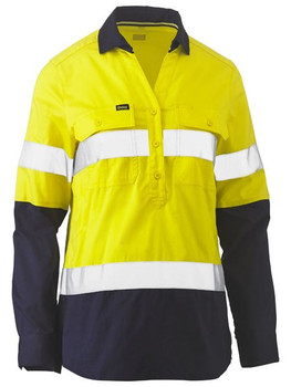 BLC6064T - Womens Taped Hi Vis Stretch V-Neck Shirt