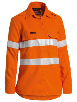 BL8097T - Womens Taped Hi Vis Lightweight FR Vented L/S Shirt