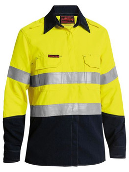 BL8098T - Womens Taped Two-Tone Hi-Vis Lightweight FR Vented L/S Shirt