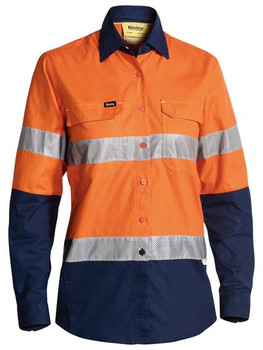 BL6415T - Womens 3M Taped Hi Vis X Airflow Ripstop Shirt