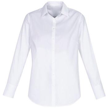 S016LL - Camden Ladies Long Sleeve Shirt - White