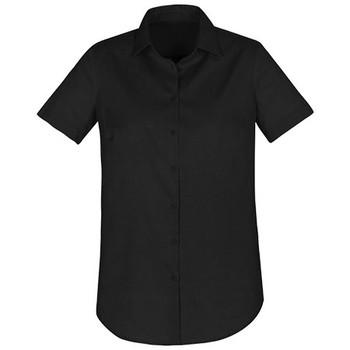 S016LS - Camden Ladies Short Sleeve Shirt - Black