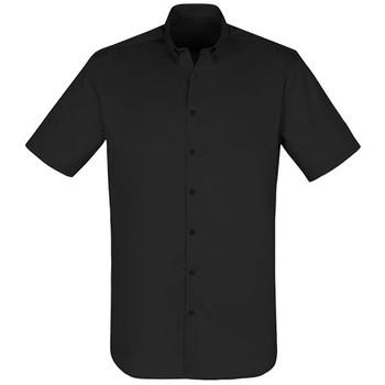 S016MS - Camden Mens Short Sleeve Shirt - Black