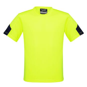 ZW505 - Mens Hi Vis Squad T-Shirt Yellow/Navy Front