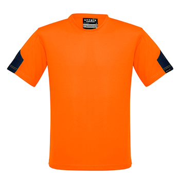 ZW505 - Mens Hi Vis Squad T-Shirt Orange/Navy Front