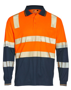 SW74 - Unisex TrueDry Biomotion Segmented L/S Safety Polo
