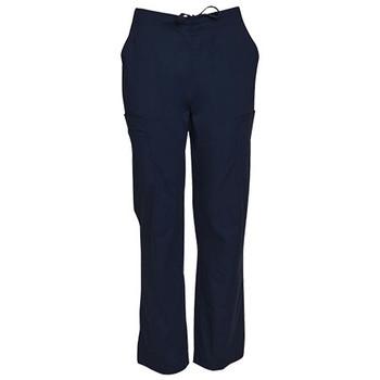 M9710 - Mens Semi-Elastic Waist Tie Solid Colour Scrub Pants - Navy