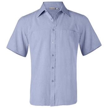 M7600S - Mens CoolDry Short Sleeve Shirt - Blue