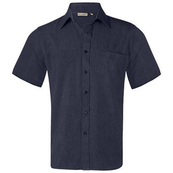 M7600S - Mens CoolDry Short Sleeve Shirt - Denim