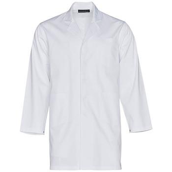 M7632 - Unisex Long Sleeve Lab Coat - White