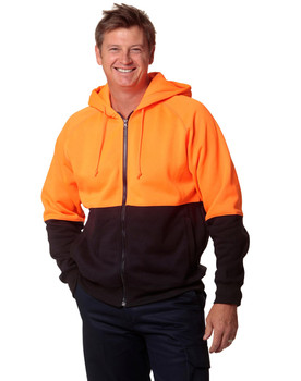 SW24 - High Visibility 2 Tone Fleece Hoodie