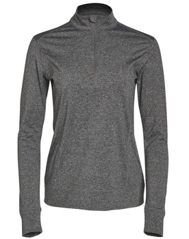 FL26 - Ladies Ultimate Half Zip Long Sleeve Sweat Top