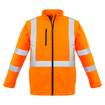 ZJ680 - Unisex Hi Vis 2 in 1 X Back Soft Shell Jacket Full front