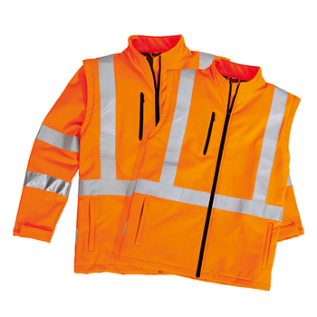 ZJ680 - Unisex Hi Vis 2 in 1 X Back Soft Shell Jacket Set