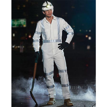WA09HV - Mens Biomotion Nightwear Coverall with X Back Tape Configuration - Display