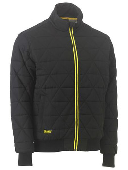 BJ6976 - Quilted Bomber Jacket