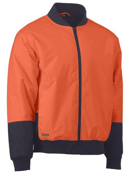 BJ6730 - Two Tone Hi Vis Bomber Jacket