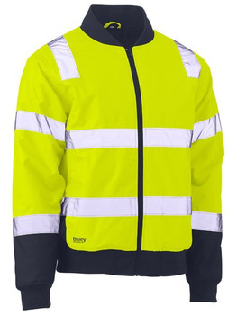 BJ6730T - Taped Two Tone Hi Vis Bomber Jacket