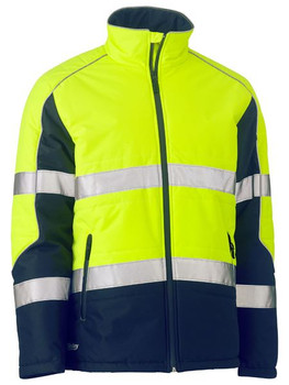 BJ6829T - Taped Two Tone Hi Vis Puffer Jacket